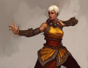 The female monk from Diablo 3