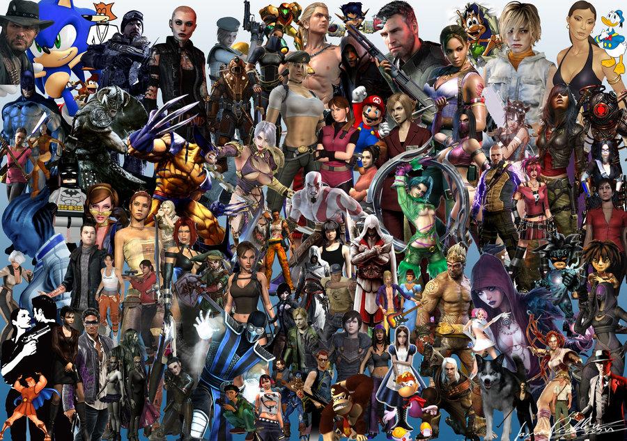 gaming_character_mashup_wallpaper_by_mentallyinstable-d4iynf0