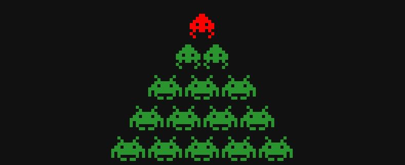 space invader christmas