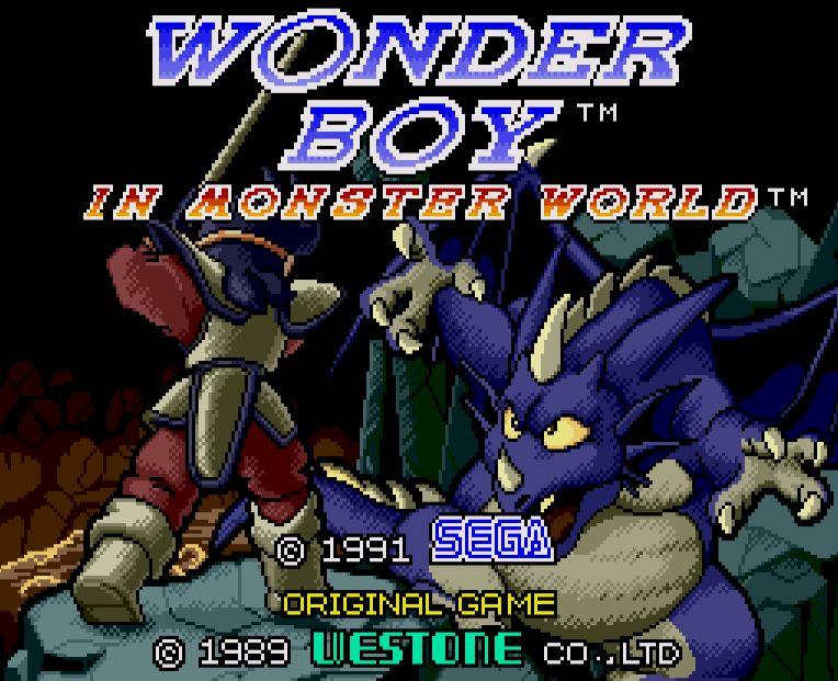Wonder Boy title