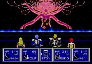 Phantasy Star II battle