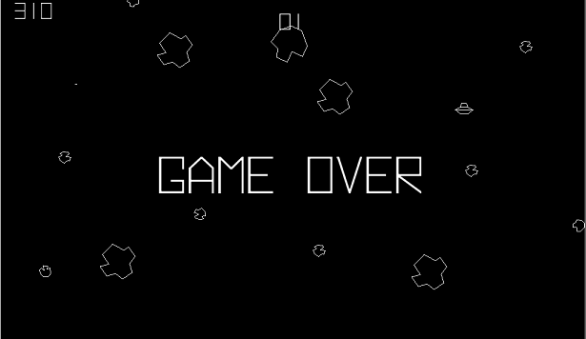 Game over asteroids
